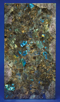 Lapidary Art:Tables / Tabletops, LARGE LABRADORITE MOSAIC TABLETOP. ...
