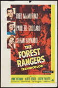 """Movie Posters:Action, The Forest Rangers (Paramount, R-1958). One Sheet (27"""" X 41""""). Action.. ..."""