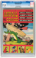 Golden Age (1938-1955):Funny Animal, Animal Comics #25 File Copy (Dell, 1947) CGC VF- 7.5 Off-white towhite pages....
