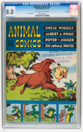Golden Age (1938-1955):Funny Animal, Animal Comics #27 File Copy (Dell, 1947) CGC VF 8.0 Off-white towhite pages....