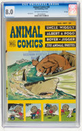 Golden Age (1938-1955):Funny Animal, Animal Comics #28 File Copy (Dell, 1947) CGC VF 8.0 Off-white towhite pages....