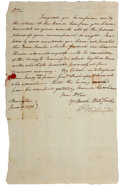 """Autographs:U.S. Presidents, George Washington Letter Signed with Free Frank, both appearing as""""G: Washington"""". One page, 8.25"""" x 13.5"""", Norring..."""