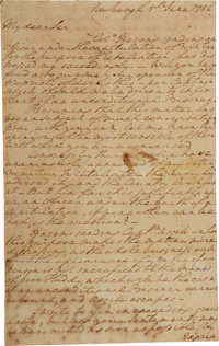 "George Washington Autograph Letter Signed. One and one-third pages, 7.25"" x 11.5"", Newburgh [New York], June 5..."