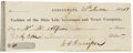 "Autographs:U.S. Presidents, William H. Harrison Check Signed ""W. H. Harrison"". One page, 6"" x 2.25"", Cincinnati, June 20, 1836, for $41 drawn on the..."