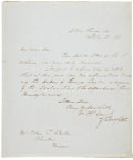 Autographs:U.S. Presidents, Zachary Taylor Autograph Letter Signed as Whig presidentialcandidate regarding a signer of the Declaration of Independence....