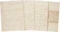 Autographs:Military Figures, Eyewitness Account of the Battle of Waterloo. Autograph Letter Signed. Six pages including integral blank, penned on recto a...