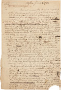 """Autographs:Military Figures, [Governor John Parr] Scotch Society of Boston Autograph Document. One page, approximately 7.5"""" x 11.5"""", Boston, June 2, 1784..."""