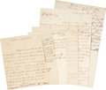 "Autographs:Statesmen, Tory Letter Archive. Six letters written relating to Toryactivities. The letters range in size from approximately 6"" x 8""t... (Total: 6 Items)"