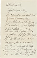 "Autographs:U.S. Presidents, [James Garfield] Charles Guiteau Autograph Letter Signed. Twopages, penned on recto and verso (second page verso blank), 5""..."
