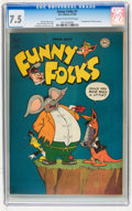 Golden Age (1938-1955):Funny Animal, Funny Folks #1 (DC, 1946) CGC VF- 7.5 Cream to off-white pages....