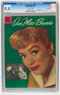 Four Color #751 Our Miss Brooks - File Copy (Dell, 1956) CGC NM 9.4 Off-white pages