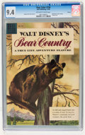 Silver Age (1956-1969):Miscellaneous, Four Color #758 Walt Disney's Bear Country - Circle 8 pedigree(Dell, 1956) CGC NM 9.4 Off-white to white pages....