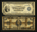 Large Size:Group Lots, Mixed lot of Blue Seals.. ... (Total: 2 notes)