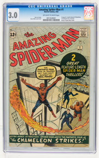 The Amazing Spider-Man #1 (Marvel, 1963) CGC GD/VG 3.0 Off-white to white pages
