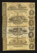 Confederate Notes:Group Lots, Miscellaneous Group of Confederate Currency.. ... (Total: 4 notes)