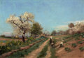Miscellaneous, PAUL JEAN MARIE SAIN (French, 1853-1908). The Fruit Pickers.Oil on canvas. 15 x 21-3/4 inches (38.1 x 55.2 cm). Signed ...