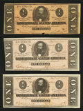 Confederate Notes:1864 Issues, T71 $1 1864 Three Examples.. ... (Total: 3 notes)