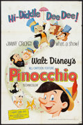 "Movie Posters:Animated, Pinocchio Lot (Buena Vista, R-1971). One Sheets (2) (27"" X 41""). Animated.. ... (Total: 2 Items)"