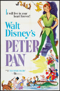 "Movie Posters:Animated, Peter Pan (Buena Vista, R-1969). One Sheet (27"" X 41""). Animated....."