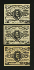Fractional Currency:Group Lots, Miscellaneous Group of Third Issue Fractionals.. ... (Total: 3 notes)