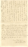 "Autographs:U.S. Presidents, Ulysses S. Grant Autograph Letter Signed. Two pages, 5"" x 5.75"",New York City, March 14, 1881. In his declining years, Civi..."
