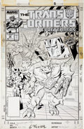Original Comic Art:Covers, Jose Delbo and Dave Hunt Transformers #40 Cover Original Art(Marvel, 1988)....