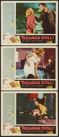"""Movie Posters:Bad Girl, Teenage Doll (Allied Artists, 1957). Lobby Cards (3) (11"""" X 14"""").Bad Girl.. ... (Total: 3 Items)"""