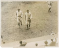 Baseball Collectibles:Photos, 1932 Babe Ruth and Lou Gehrig World Series Original Photograph....