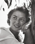 Photographs:20th Century, JOHN FLOREA (American, 1916-2000). Ingrid Bergman . Gelatinsilver, printed later. Paper: 20 x 16 inches (50.8 x 40.6 cm...