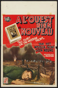 """Movie Posters:War, All Quiet on the Western Front (Universal, R-1950). Belgian (14"""" X21.5""""). War.. ..."""