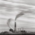 Photographs:Contemporary, MICHAEL KENNA (British/American, b. 1953). Moss Landing PowerStation, Study #2, California, 1987. Sepia and selenium to...