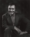 Photographs:20th Century, YOUSUF KARSH (Canadian, 1908-2002). Clark Gable, 1948.Gelatin silver. 19-5/8 x 15-3/4 inches (50 x 40 cm). Recto:signe... (Total: 2 Items)