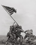 Photographs, JOE ROSENTHAL (American, b. 1911). Raising the Flag on Mt. Suribachi, Iwo Jima, 1945. Gelatin silver, 1995. 16-1/2 x 13-...