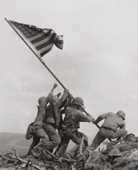 JOE ROSENTHAL (American, b. 1911) Raising the Flag on Mt. Suribachi, Iwo Jima, 1945 Gelatin silver