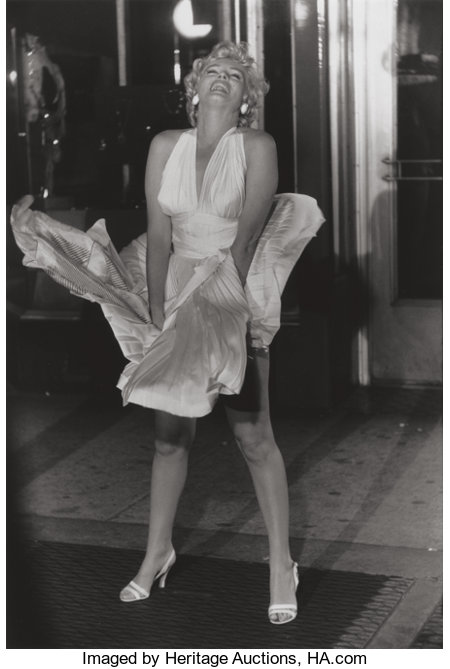 GARRY WINOGRAND (American, 1928-1984) Marilyn Monroe on the set of the Seven Year Itch (from 15 Big Shots), 1955 Gelat...