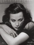 Photographs:20th Century, GEORGE HURRELL (American, 1904-1992). Hedy Lamarr, 1938.Gelatin silver, 1979. 48 x 36 inches (121.9 x 91.4 cm). Recto: ...