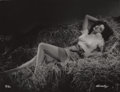 Photographs:20th Century, GEORGE HURRELL (American, 1904-1992). Jane Russell, 1946.Gelatin silver, 1979. 48 x 36 inches (121.9 x 91.4 cm). Recto:...