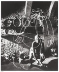 Photographs, GJON MILI (American, 1904-1984). Picasso Drawing a Centaur with a Flashlight, 1949. Gelatin silver, 2004. Paper: 19-7/8 ...