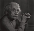 Photographs:20th Century, YOUSUF KARSH (Canadian, 1908-2002). Albert Einstein, 1948.Gelatin silver, printed later. 19-1/4 x 21 inches (48.9 x 53....