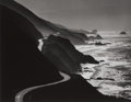 Photographs:Contemporary, HENRY GILPIN (American). Untitled (Winding Road alongCoastline), 1963. Gelatin silver . 10-1/2 x 13-1/2 inches (26.7x ...