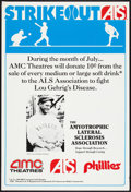 """Movie Posters:Sports, Strikeout Lou Gehrig's Disease Promotion (AMC, 1990s). One Sheet (27"""" X 40""""). Sports.. ..."""