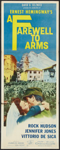 """Movie Posters:War, A Farewell to Arms (20th Century Fox, R-1963). Insert (14"""" X 36"""").War.. ..."""