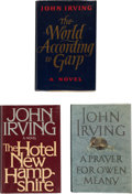 Books:Signed Editions, John Irving. Three Signed First Editions, including: The WorldAccording to Garp. [and:] The Hotel New Hampshire... (Total:3 Items)