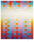 Fine Art - Painting, European:Contemporary   (1950 to present)  , YAACOV AGAM (Israeli, b. 1928). Untitled Collage, circa late1970s. Collage of painted squares. 22 x 18-1/2 inches (55.9...