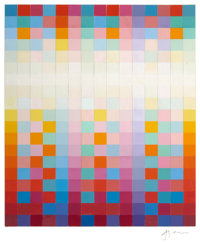 YAACOV AGAM (Israeli, b. 1928) Untitled Collage, circa late 1970s Collage of painted squares 22 x