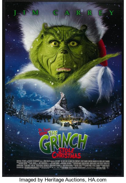 How The Grinch Stole Christmas Movie.How The Grinch Stole Christmas Lot Universal 2000 One