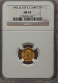 Commemorative Gold, 1905 G$1 Lewis and Clark MS63 NGC....