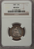 Seated Quarters, 1887 25C MS65 ★ NGC....