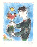Impressionism & Modernism:Surrealism, MARC CHAGALL (French/Russian, 1887-1985). L'Aurore, 1983.Color lithograph. 15 x 11 inches (38.1 x 27.9 cm). Ed. 29/50. ...