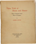 Books:First Editions, James Joyce. Tales Told of Shem and Shaun. ThreeFragments from Work in Progress. Paris: Black Sun Press,1929....